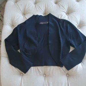 Black shrug cropped cardigan